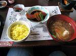 金目鯛の煮付け、味噌汁